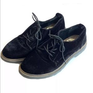 Coolway velvet lace up oxfords loafers